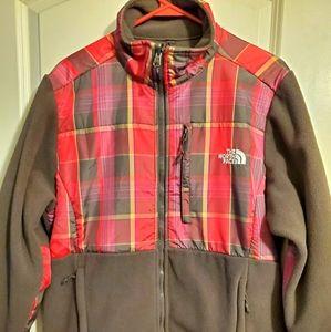 North Face Plaid Fleece Jacket